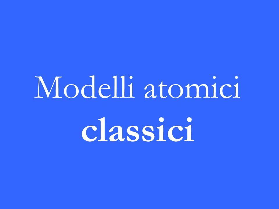 Modelli atomici classici