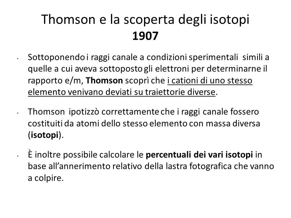 Thomson e la scoperta degli isotopi 1907