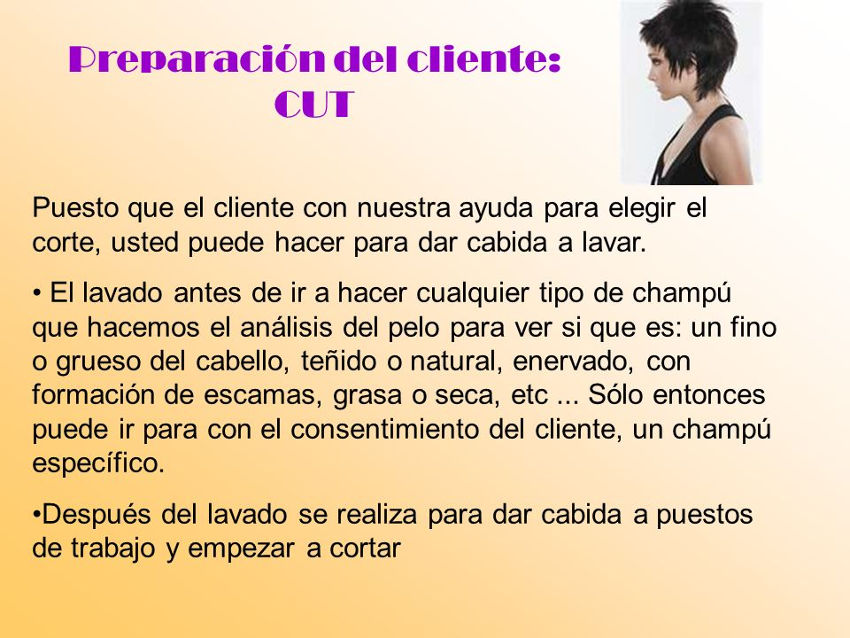 Preparación del cliente: CUT