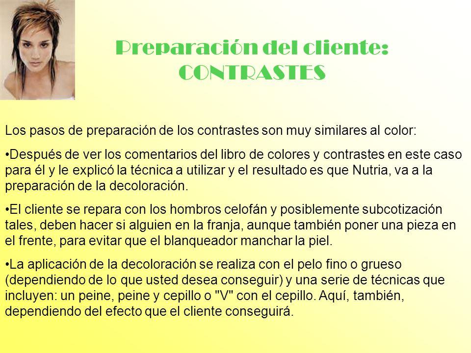 Preparación del cliente: CONTRASTES