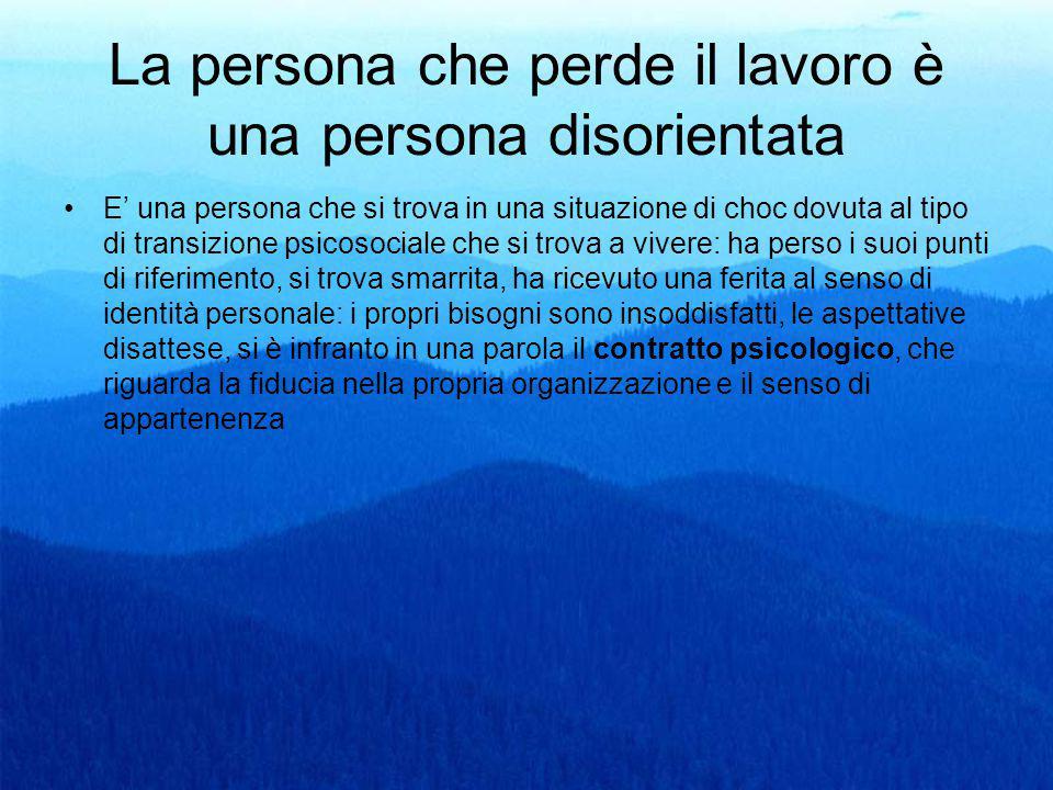 La persona che perde il lavoro è una persona disorientata