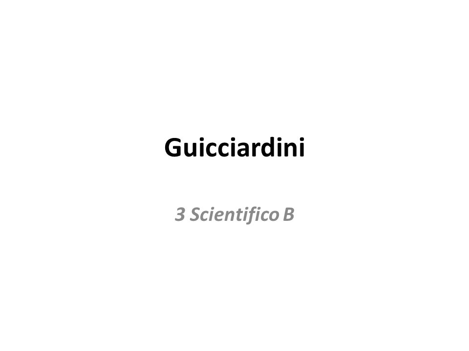 Guicciardini 3 Scientifico B