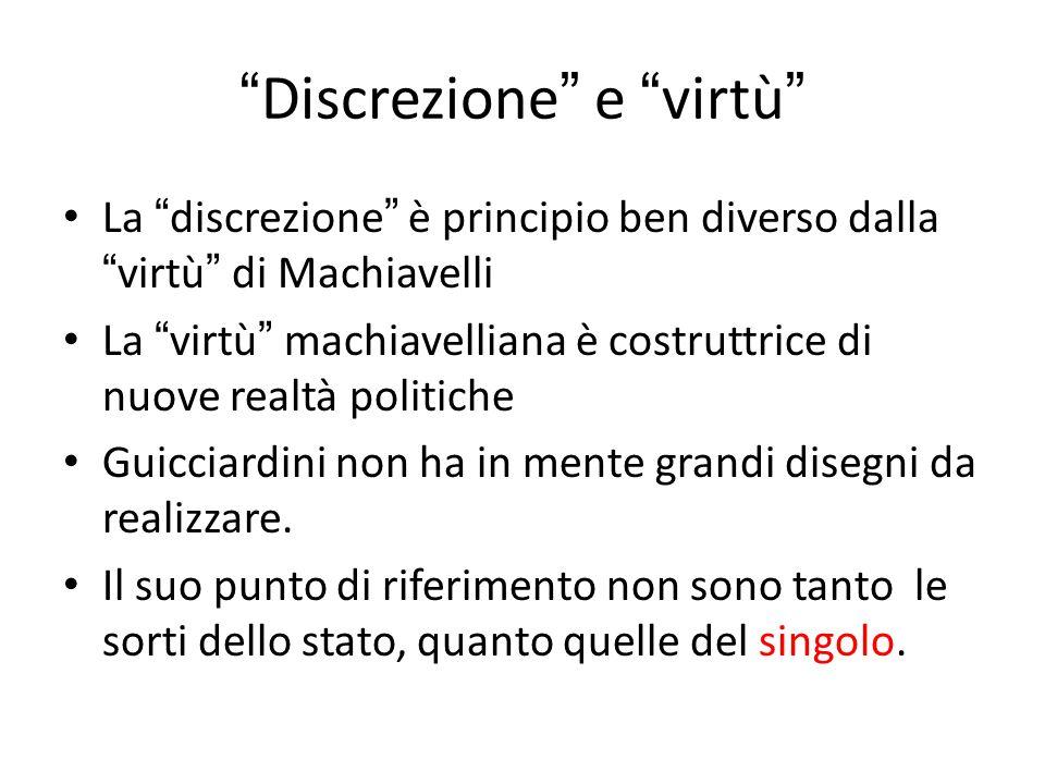 Discrezione e virtù