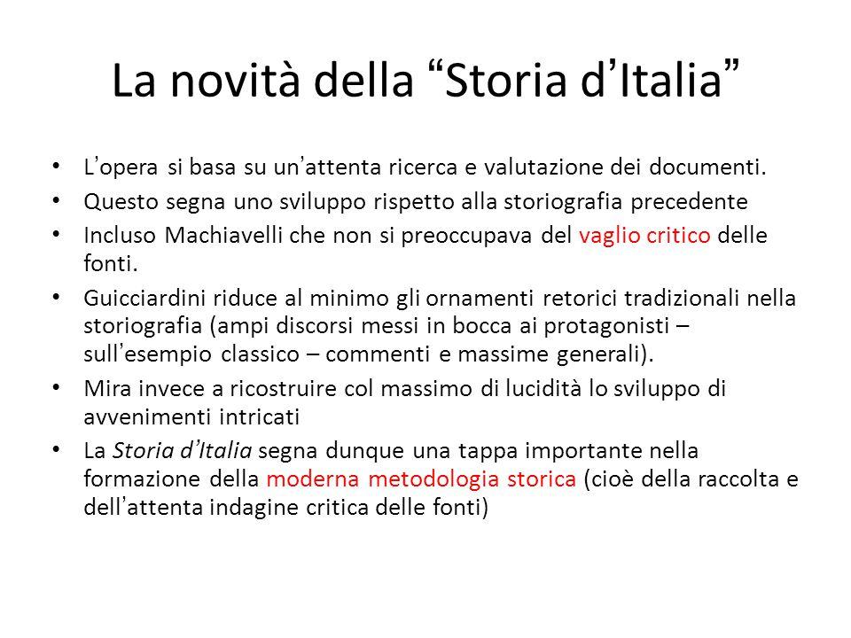 La novità della Storia d'Italia