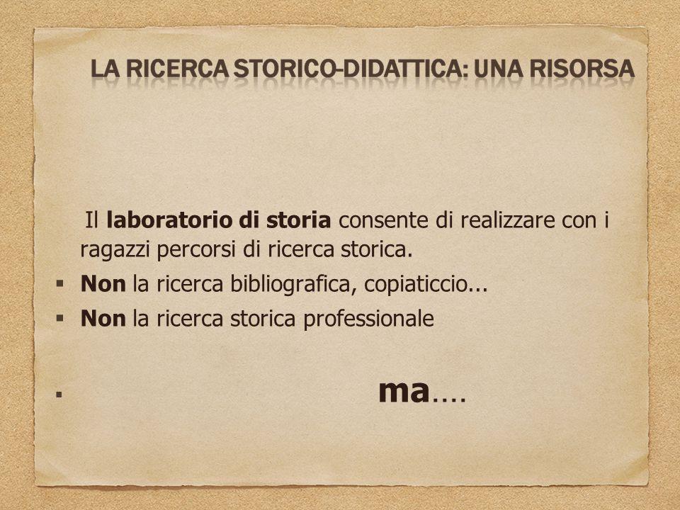 Non la ricerca bibliografica, copiaticcio...