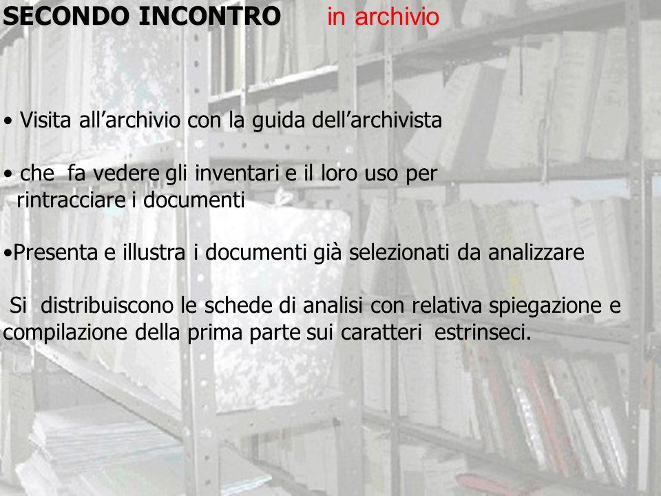 SECONDO INCONTRO in archivio