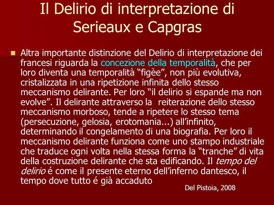Il Delirio di interpretazione di Serieaux e Capgras