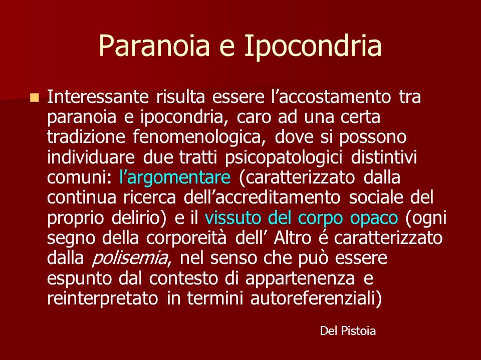 Paranoia e Ipocondria