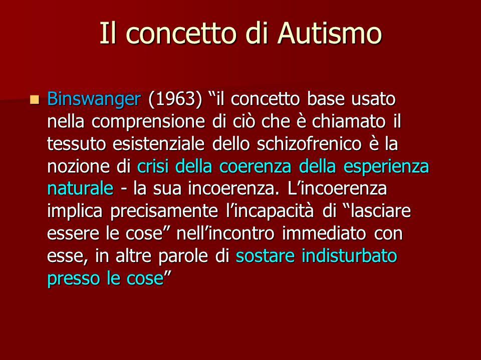 Il concetto di Autismo