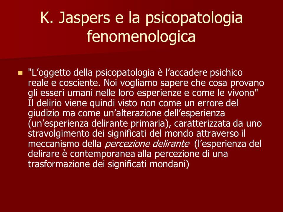 K. Jaspers e la psicopatologia fenomenologica