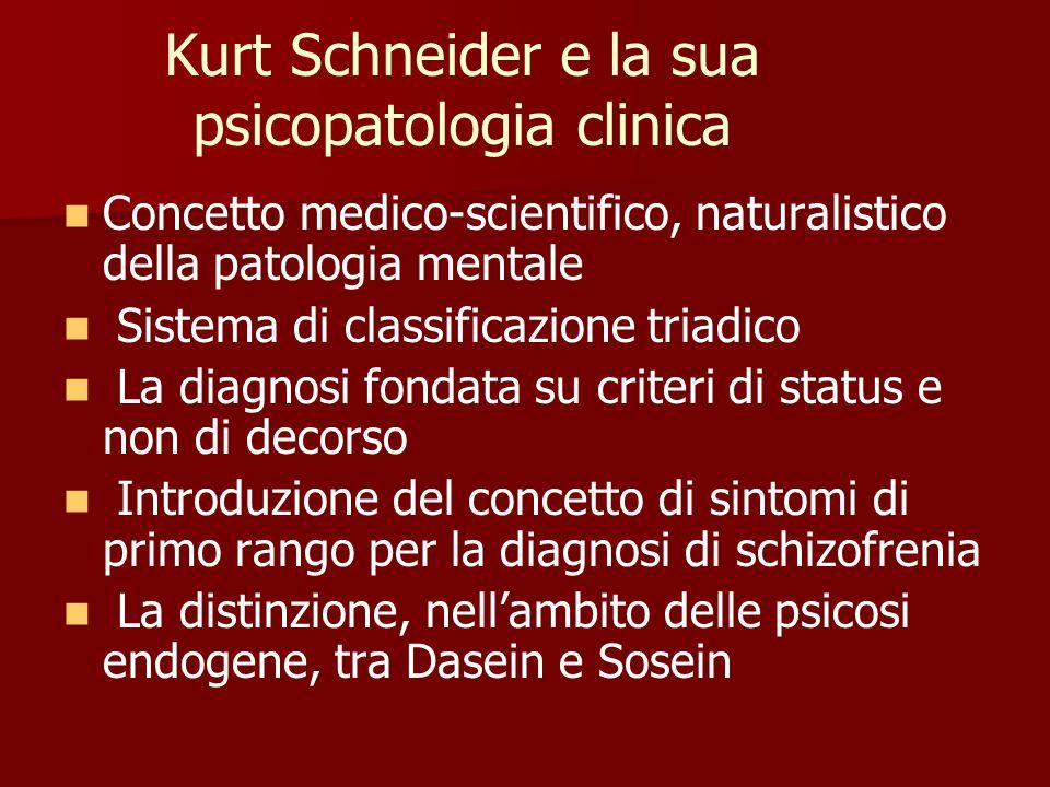 Kurt Schneider e la sua psicopatologia clinica
