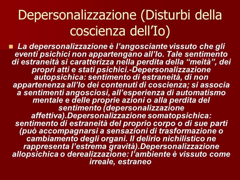 Depersonalizzazione (Disturbi della coscienza dell'Io)