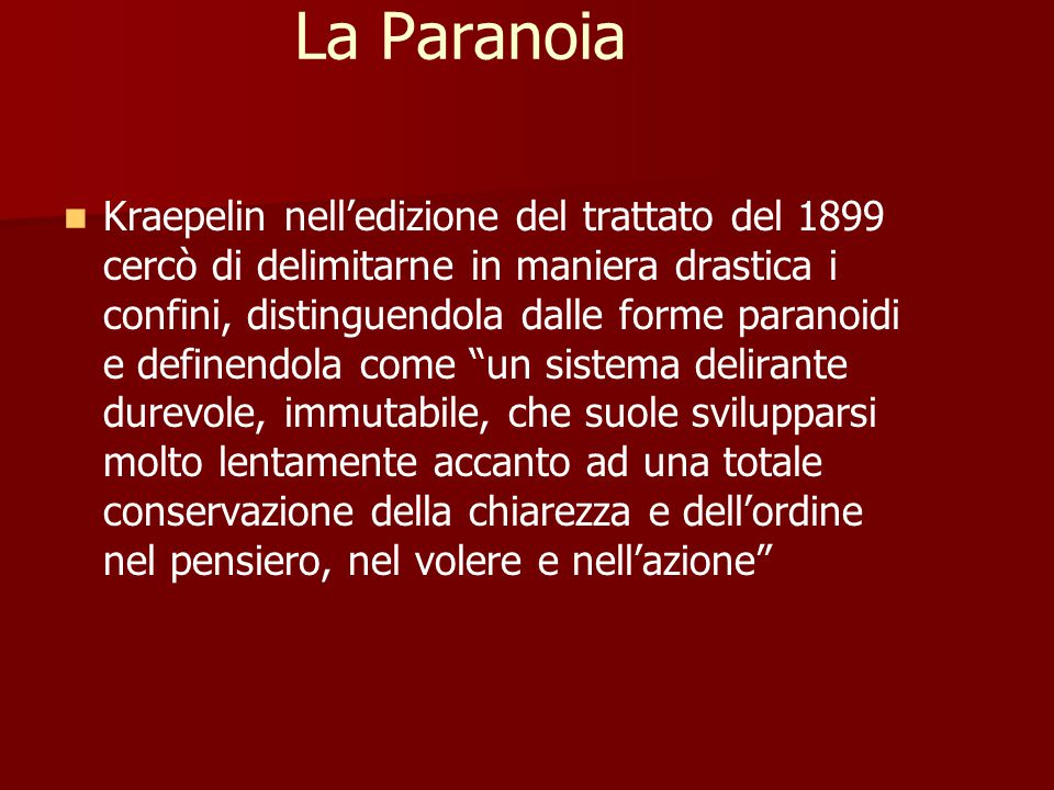 La Paranoia