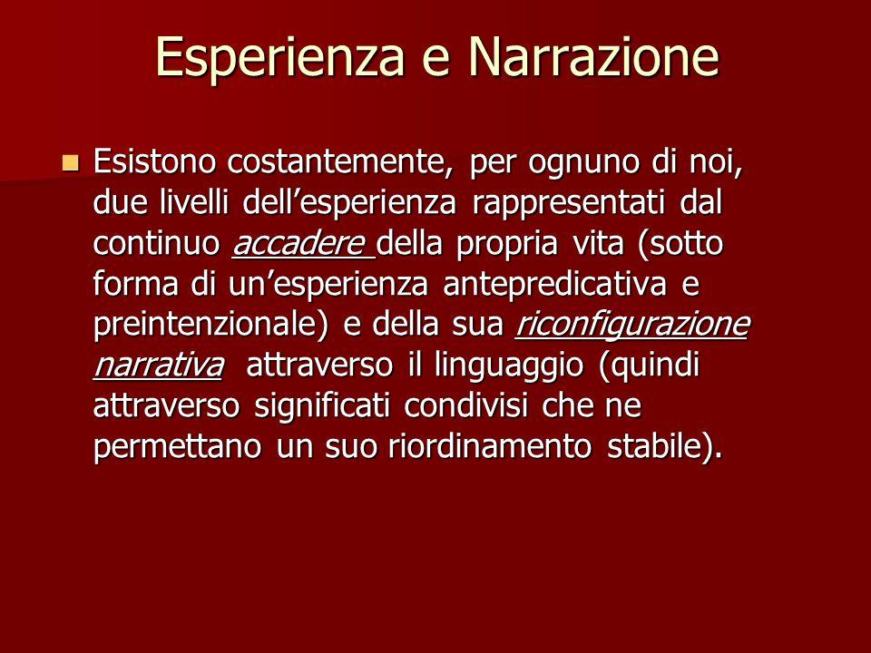 Esperienza e Narrazione