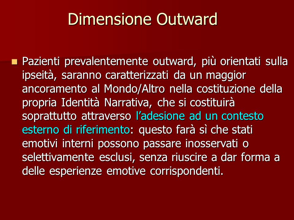 Dimensione Outward