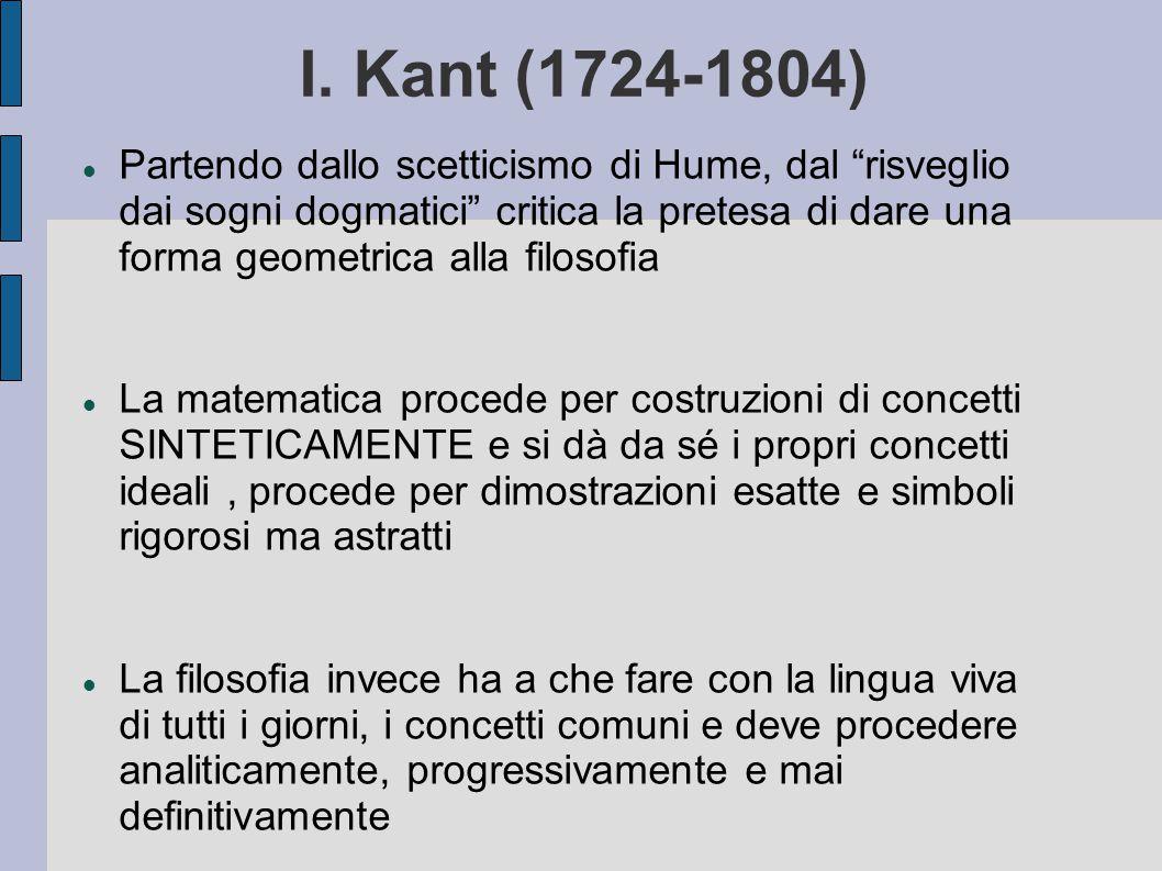 I. Kant (1724-1804)