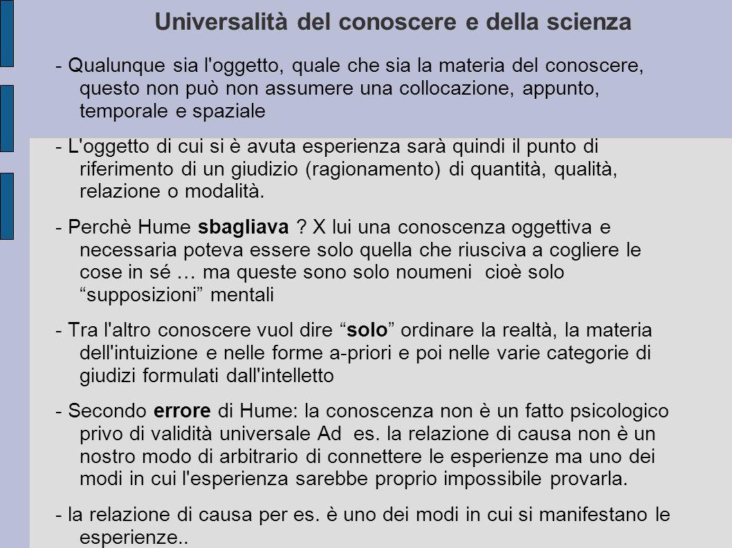 Universalità del conoscere e della scienza