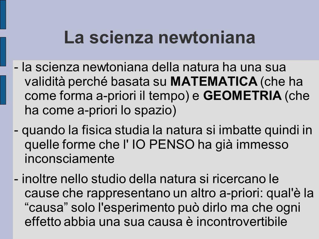 La scienza newtoniana