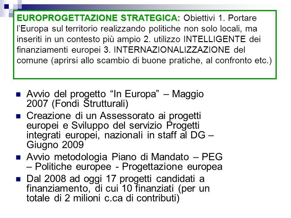 Avvio del progetto In Europa – Maggio 2007 (Fondi Strutturali)