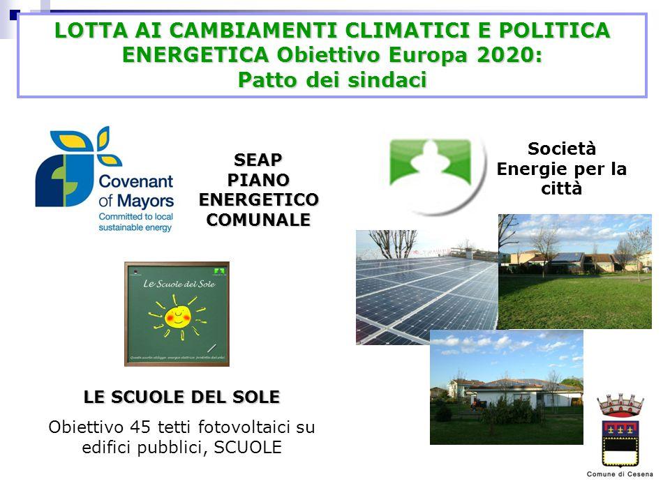 Società Energie per la città SEAP PIANO ENERGETICO COMUNALE