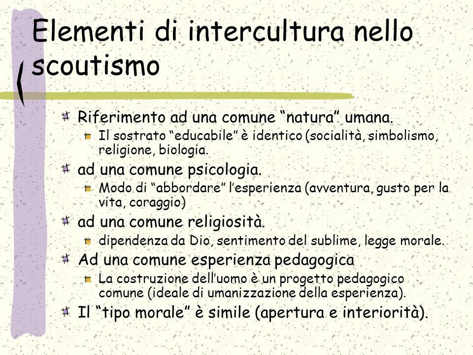 Elementi di intercultura nello scoutismo