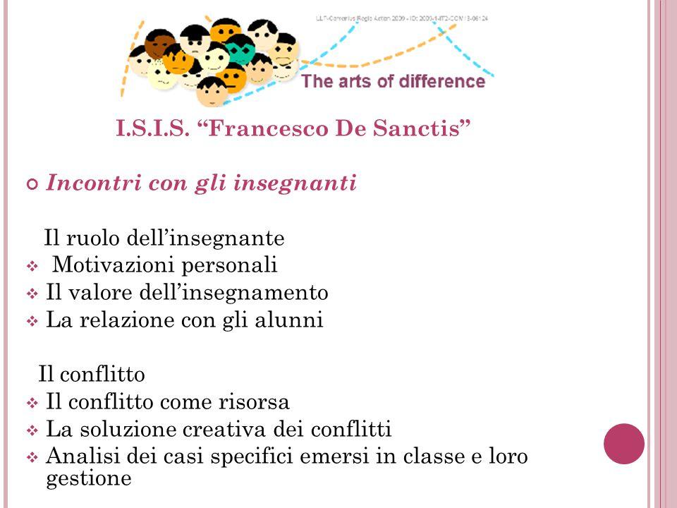 I.S.I.S. Francesco De Sanctis Incontri con gli insegnanti