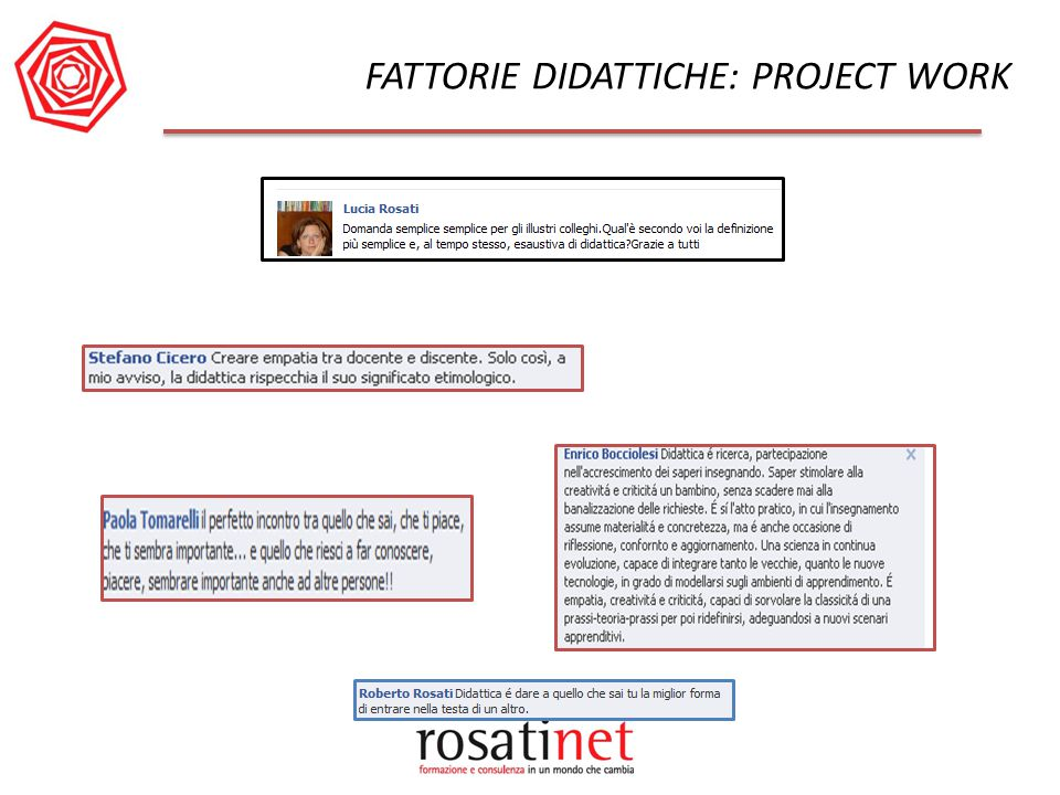 FATTORIE DIDATTICHE: PROJECT WORK