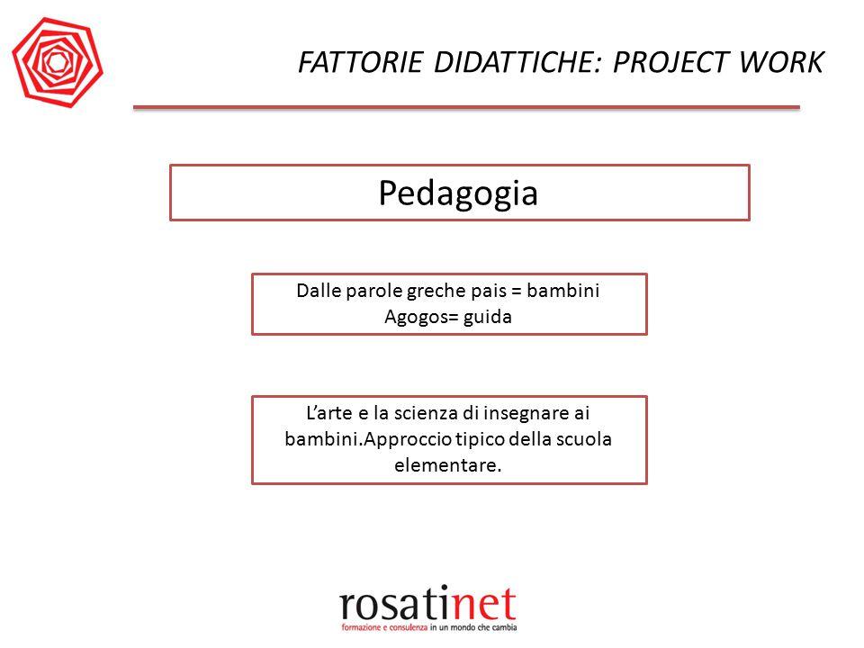 Pedagogia FATTORIE DIDATTICHE: PROJECT WORK
