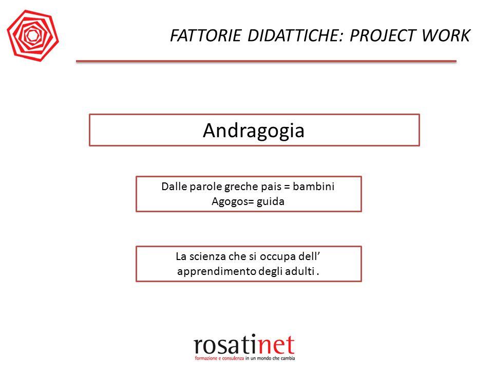 Andragogia FATTORIE DIDATTICHE: PROJECT WORK