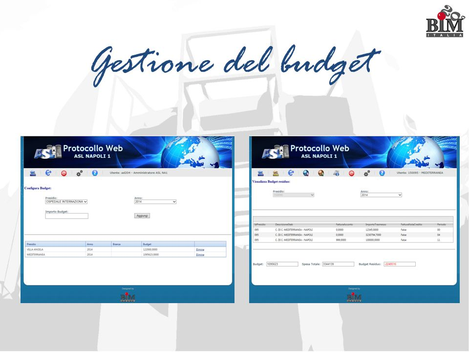 Gestione del budget