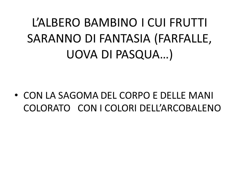 L'ALBERO BAMBINO I CUI FRUTTI SARANNO DI FANTASIA (FARFALLE, UOVA DI PASQUA…)