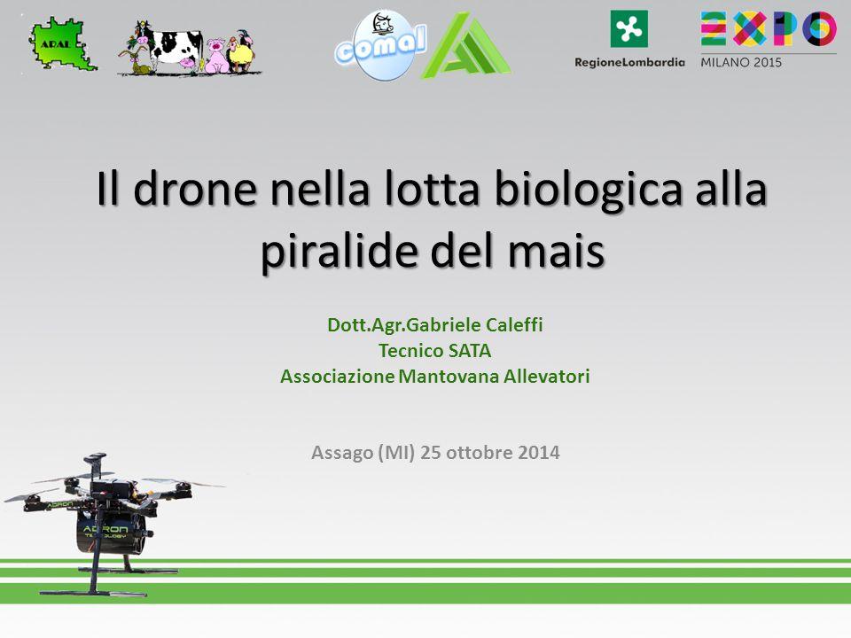 Il drone nella lotta biologica alla piralide del mais