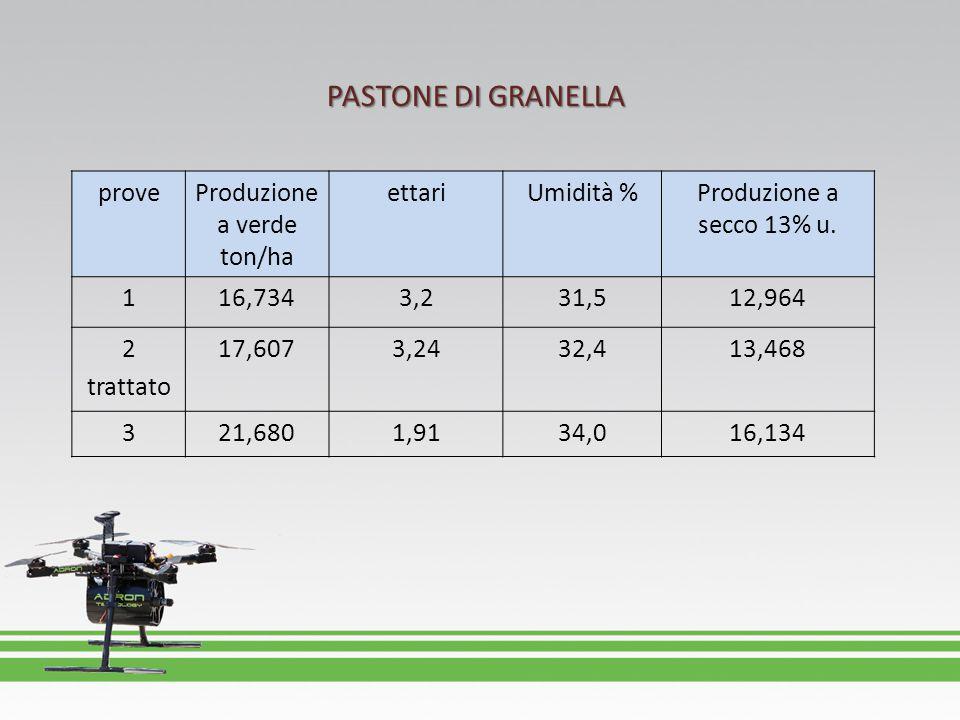 Produzione a verde ton/ha
