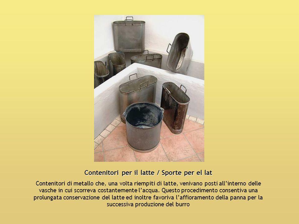 Contenitori per il latte / Sporte per el lat