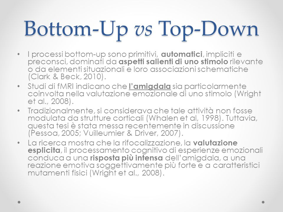 Bottom-Up vs Top-Down