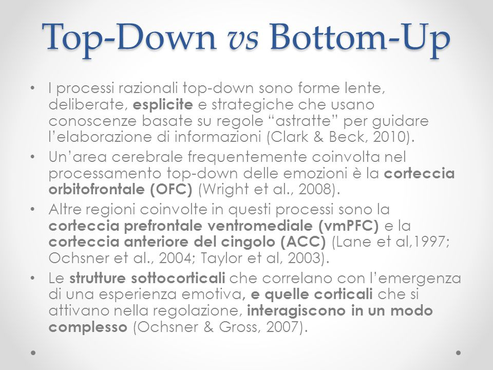Top-Down vs Bottom-Up