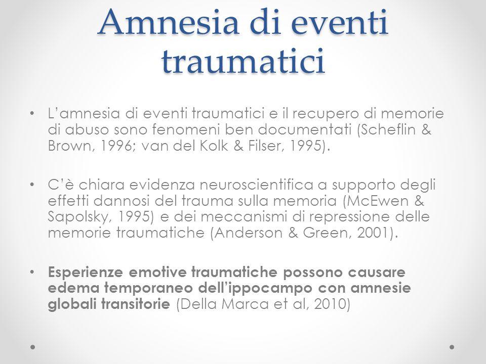 Amnesia di eventi traumatici