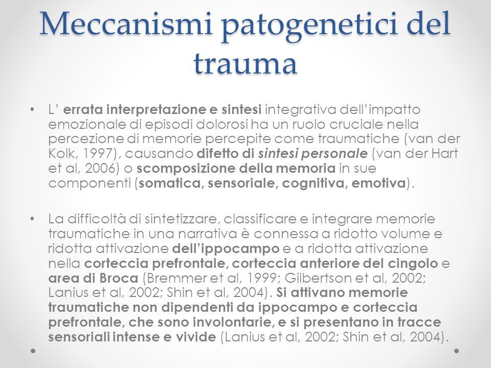 Meccanismi patogenetici del trauma