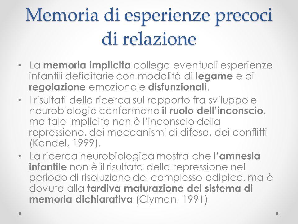 Memoria di esperienze precoci di relazione