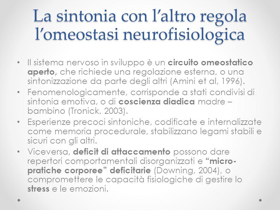 La sintonia con l'altro regola l'omeostasi neurofisiologica
