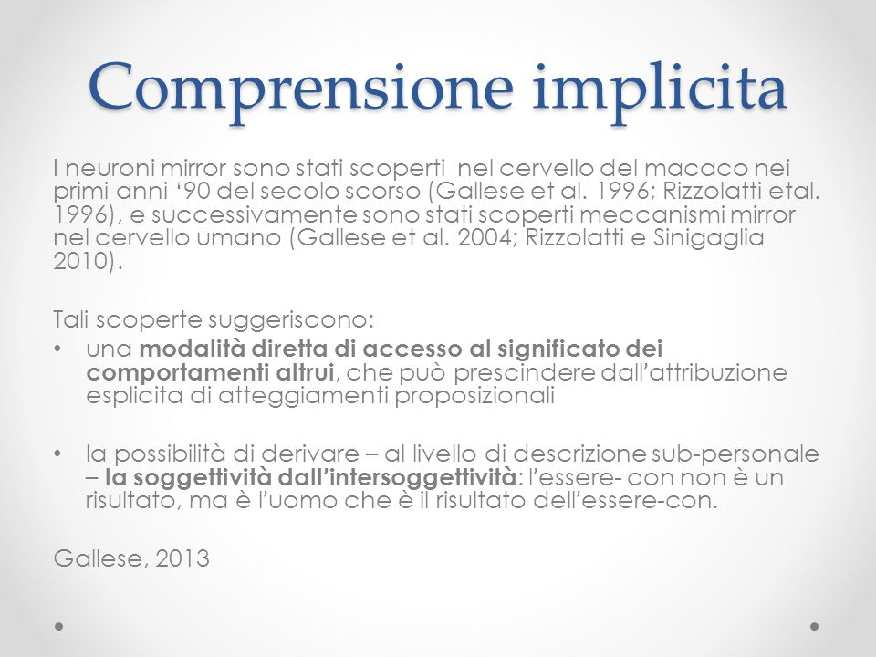 Comprensione implicita