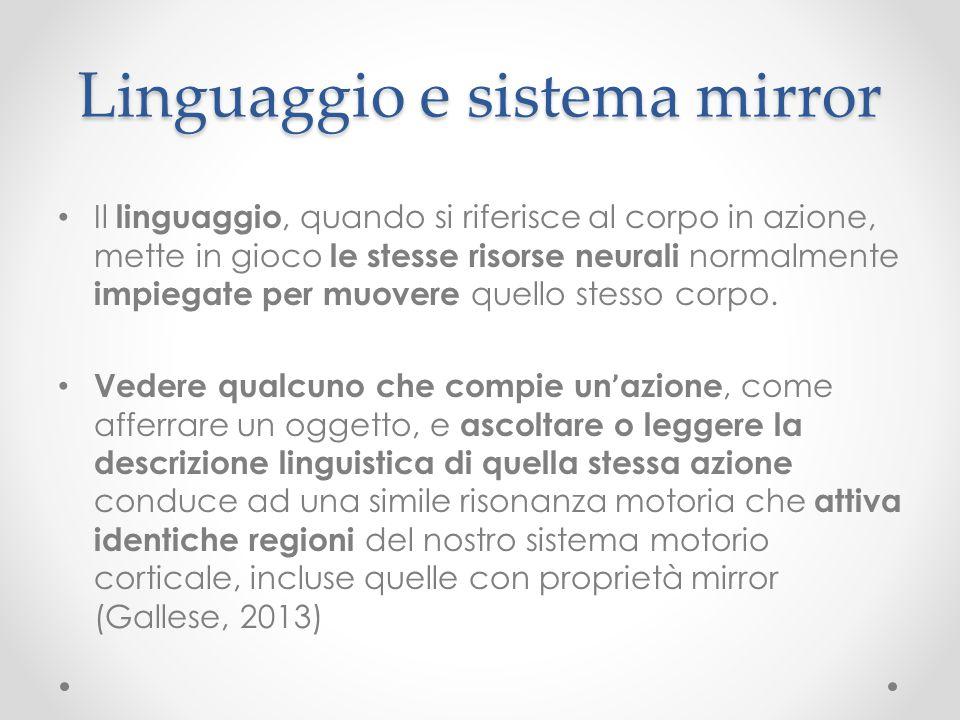 Linguaggio e sistema mirror