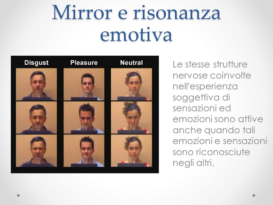 Mirror e risonanza emotiva