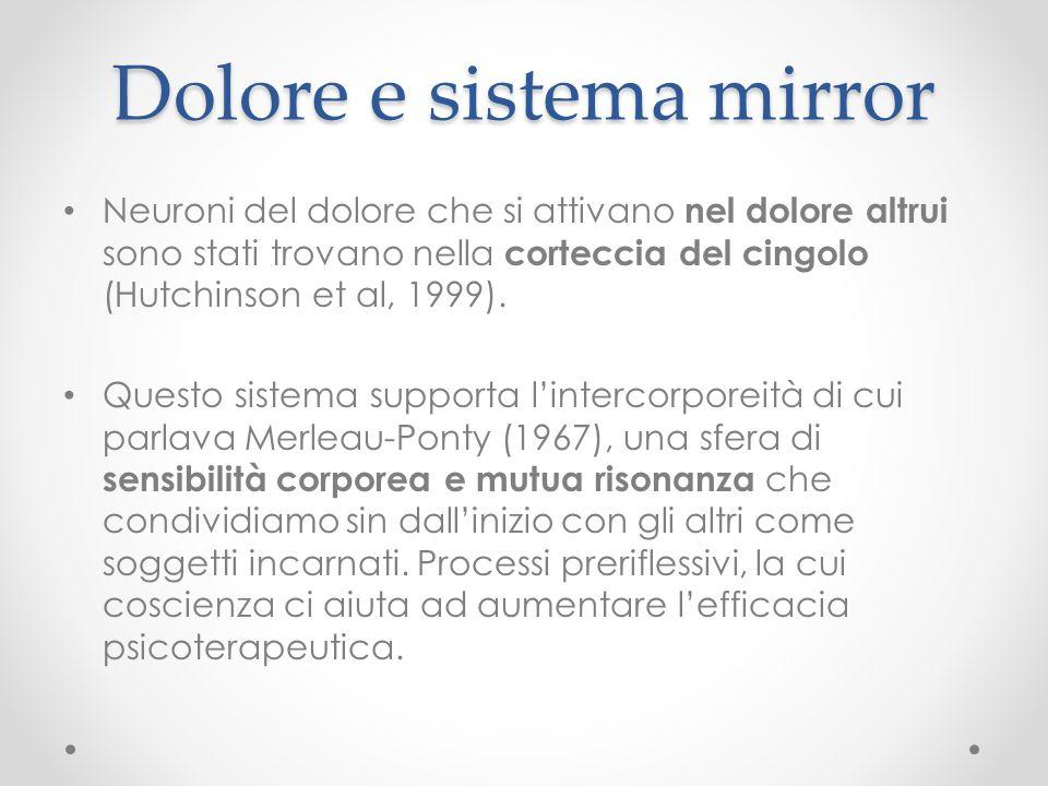 Dolore e sistema mirror