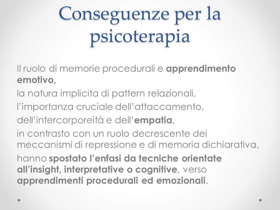 Conseguenze per la psicoterapia