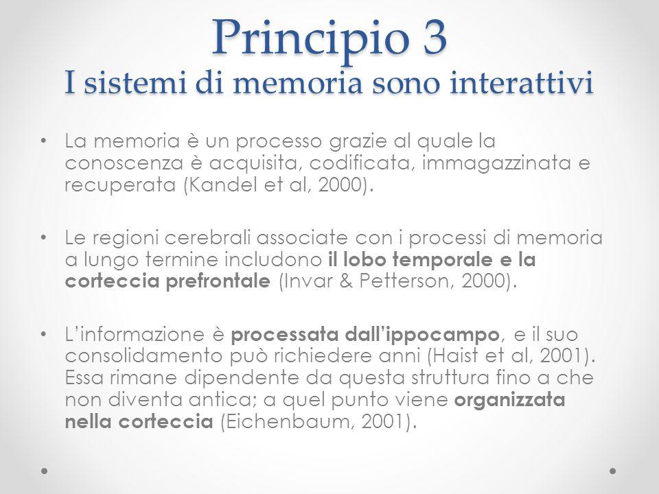Principio 3 I sistemi di memoria sono interattivi