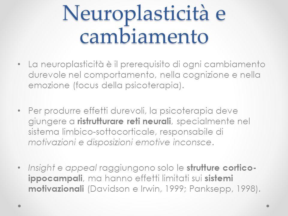 Neuroplasticità e cambiamento