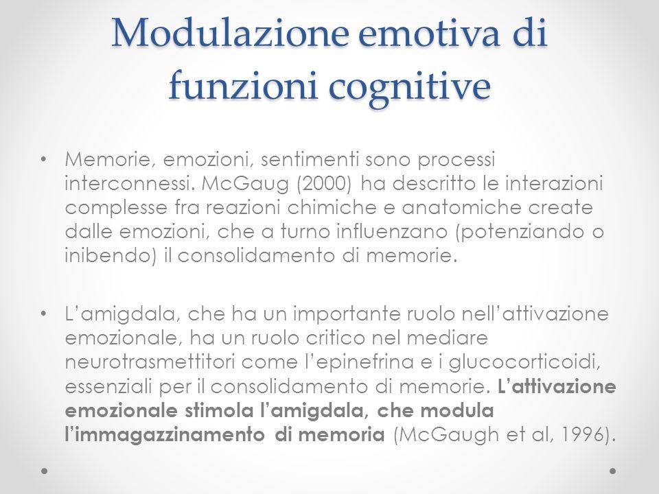 Modulazione emotiva di funzioni cognitive