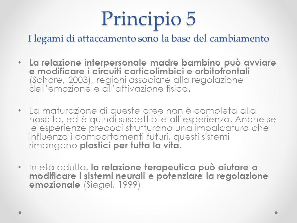 Principio 5 I legami di attaccamento sono la base del cambiamento