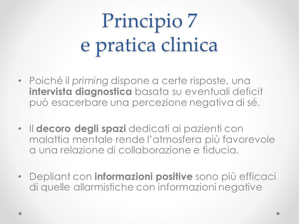 Principio 7 e pratica clinica